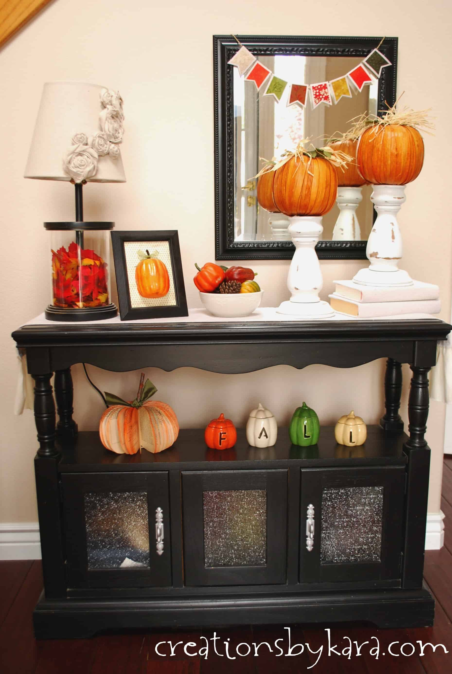 Fall Decorating Ideas Entryway Table Decor