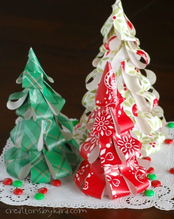 Make Upcycled Christmas Ornaments From Left Over Wrapping Paper Easy Craft Idea