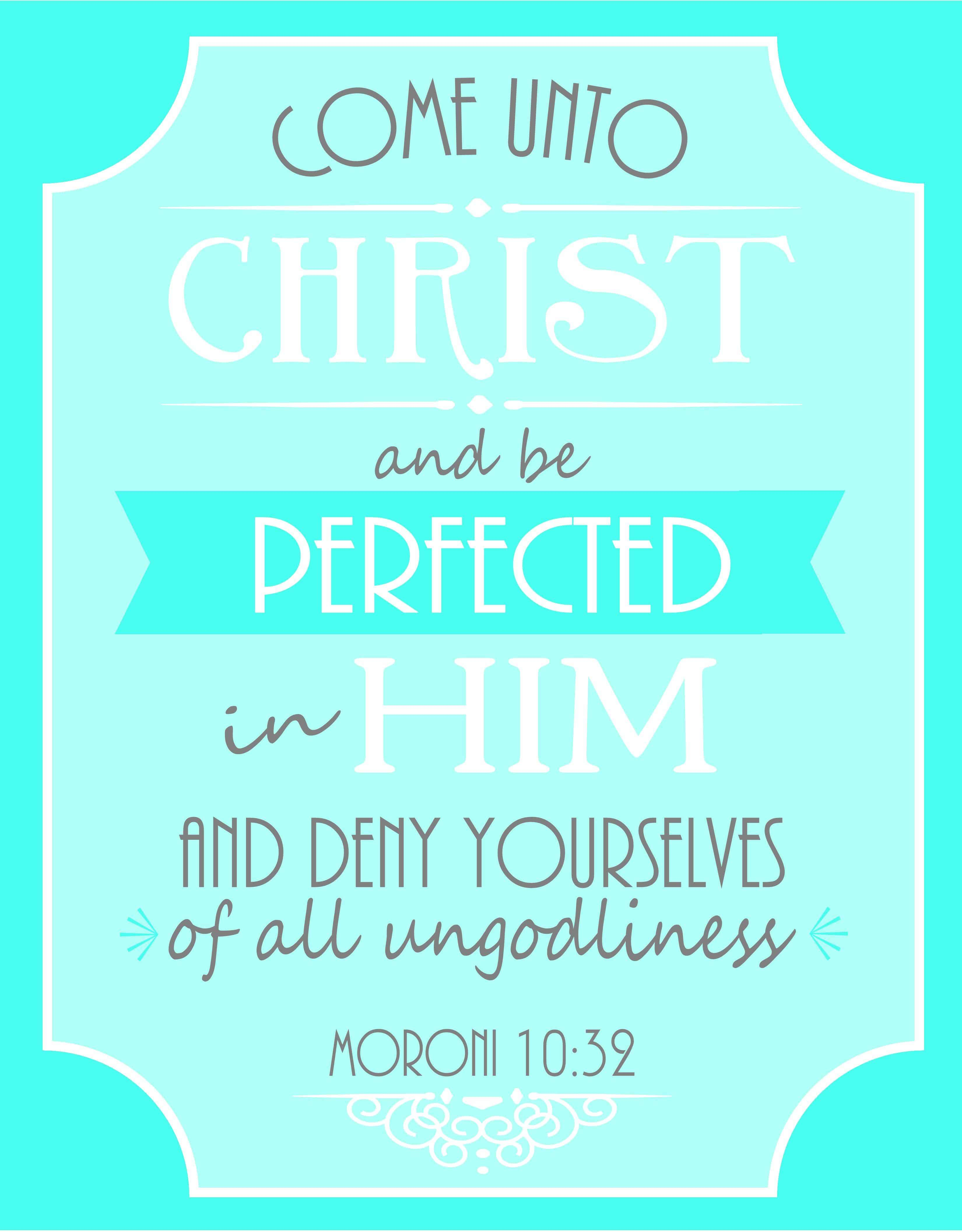 Come Unto Christ Free Printable Poster For LDS Young Women