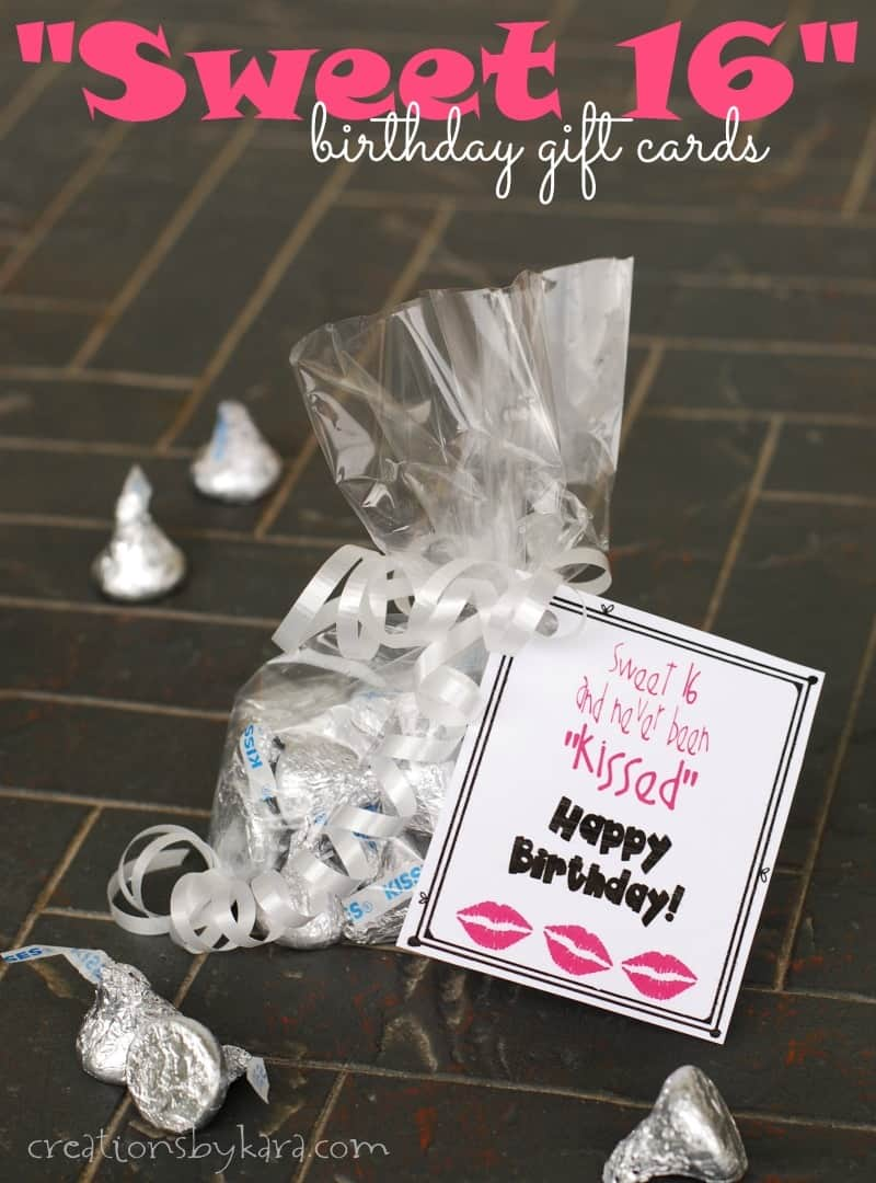 Sweet 16 Birthday Gift Tags