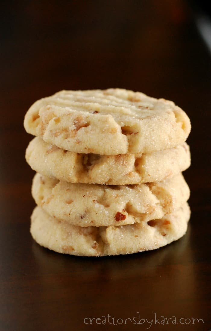 Pecan sandies with toffee