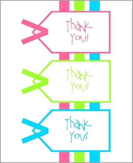 printable thank you notes