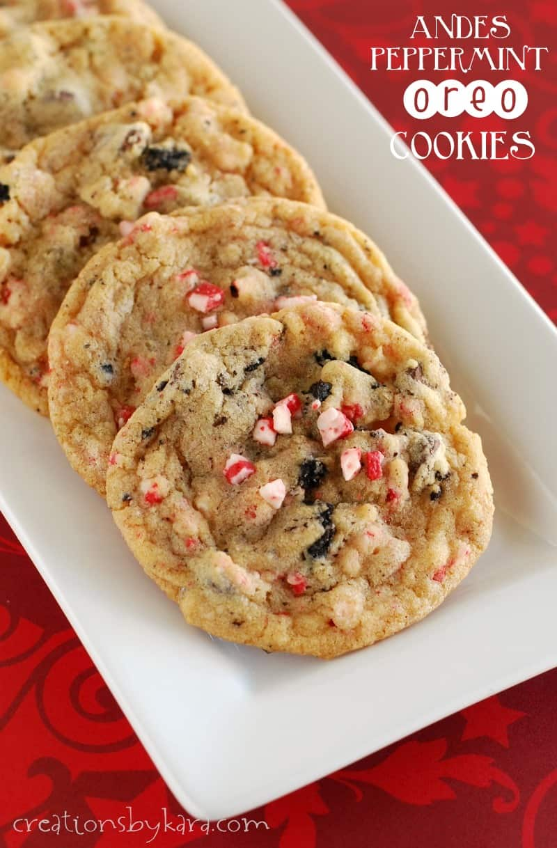Andes Peppermint Oreo Cookies a great Christmas cookie
