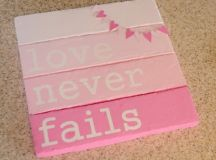 Faux pallet Valentines day sign