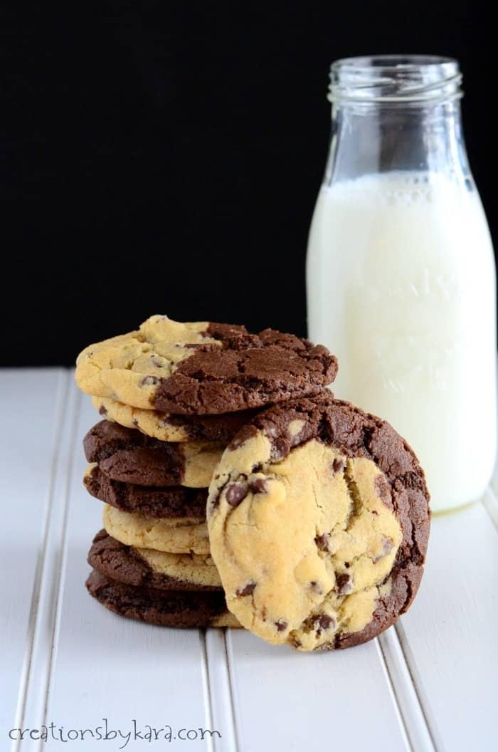 Brookies Half Chocolate Chip Cookie Half Brownie So Good