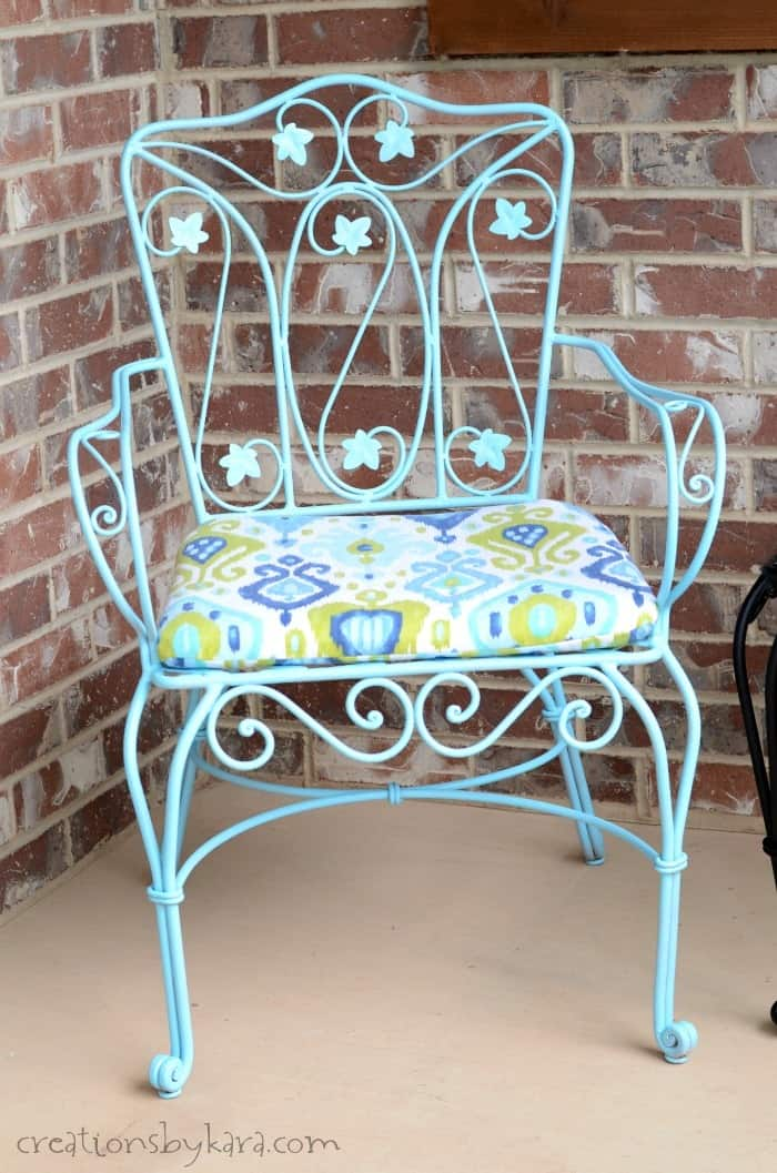 metal patio chair orange dining room covers how to transform rusty furniture