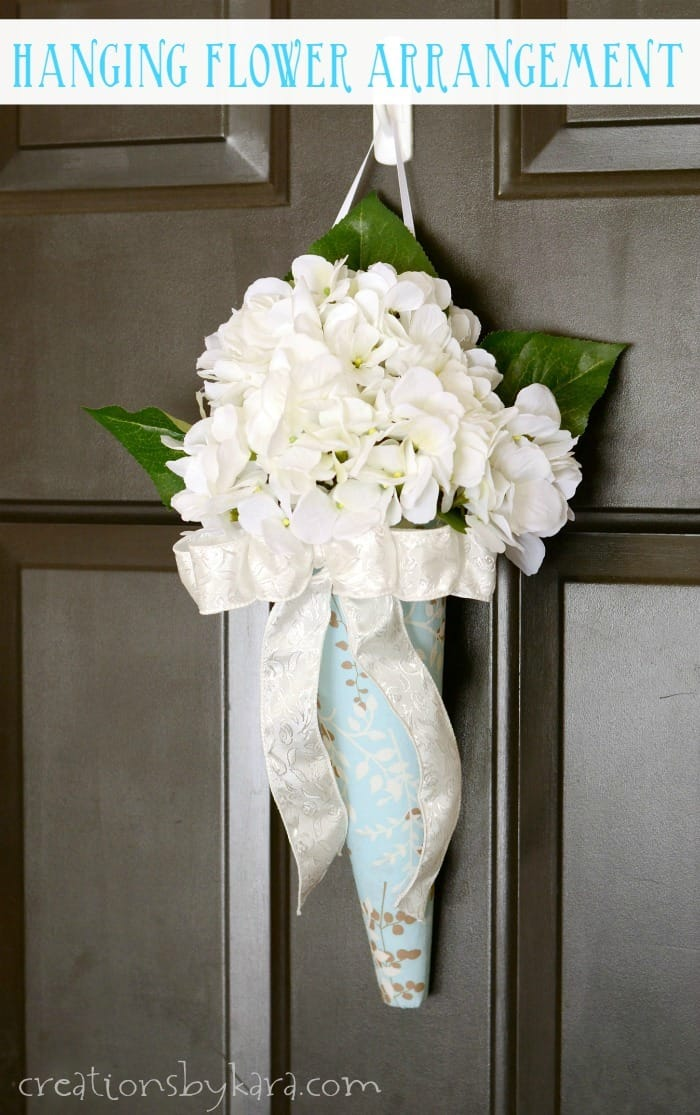 DIY hanging flower arrangement