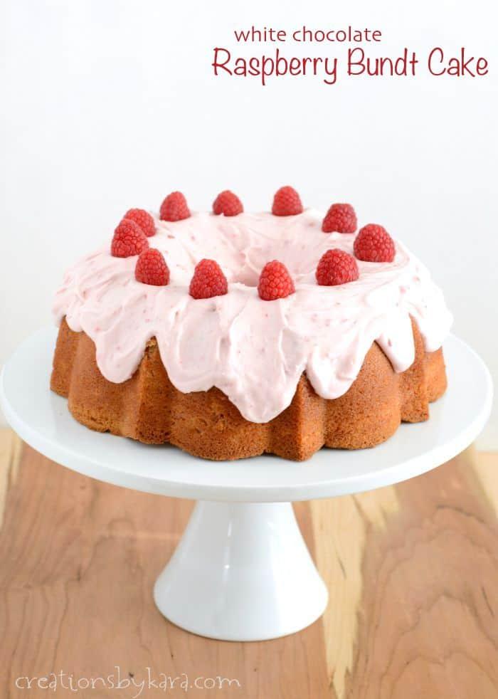 Amazing Raspberry White Chocolate Bundt Cake Recipe