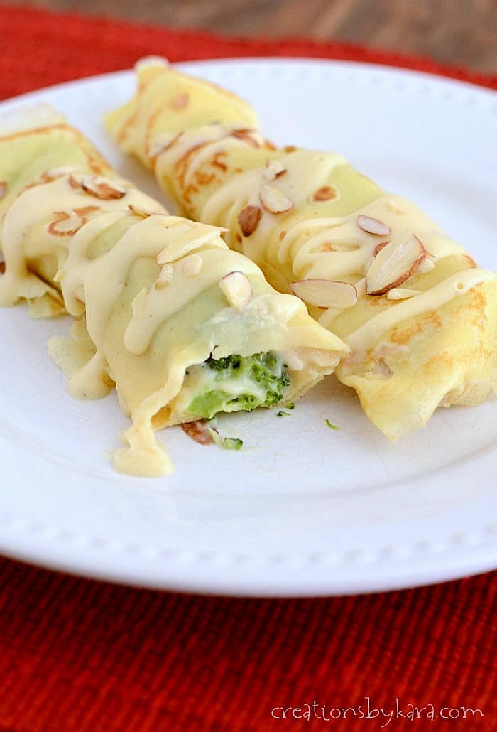 Chicken Crepes With Broccoli
