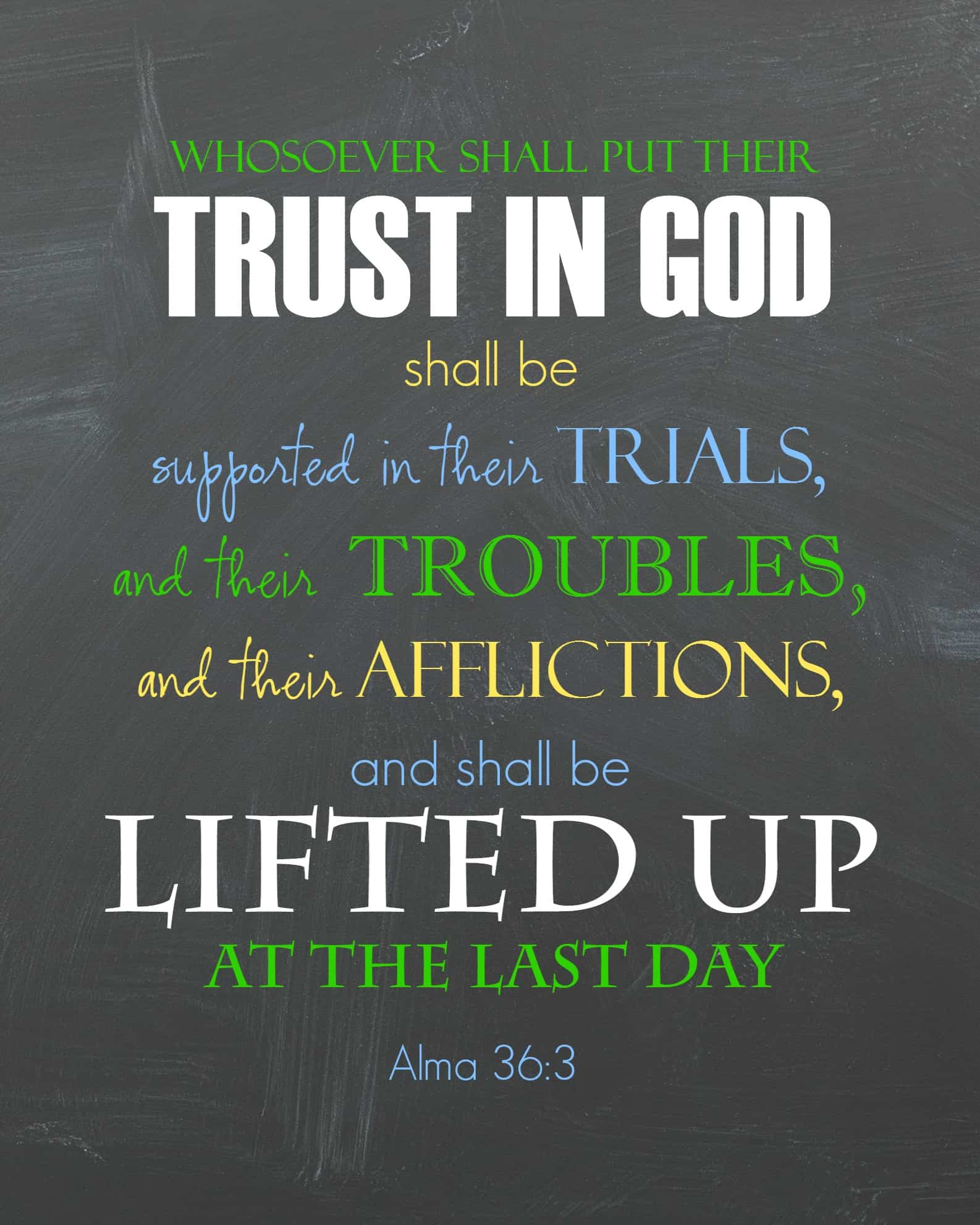 Ponderize Scripture Printable Trust In God