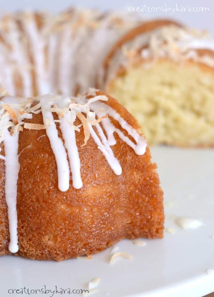 Cream Of Coconut Bundt Cake