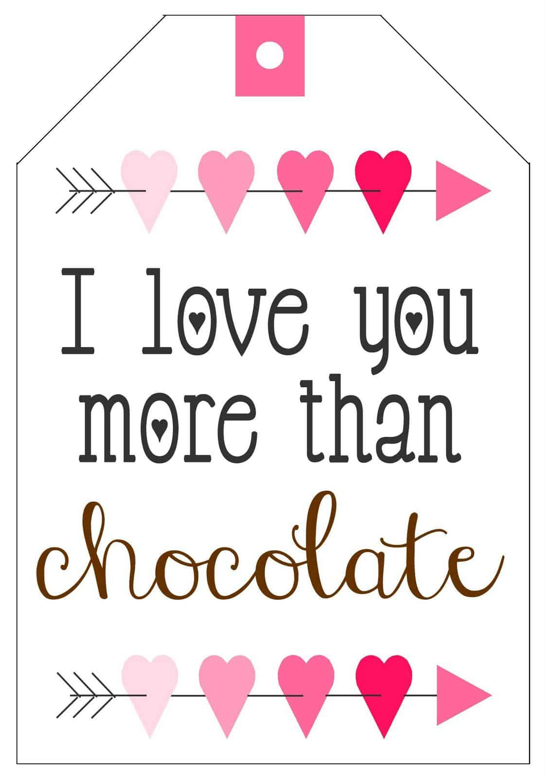 Chocolate Lover S Valentine S T Baskets With Printable Tag