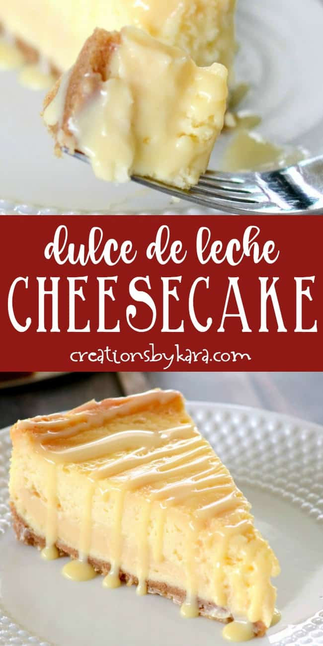 Dulce de Leche Cheesecake Recipe  Creations by Kara