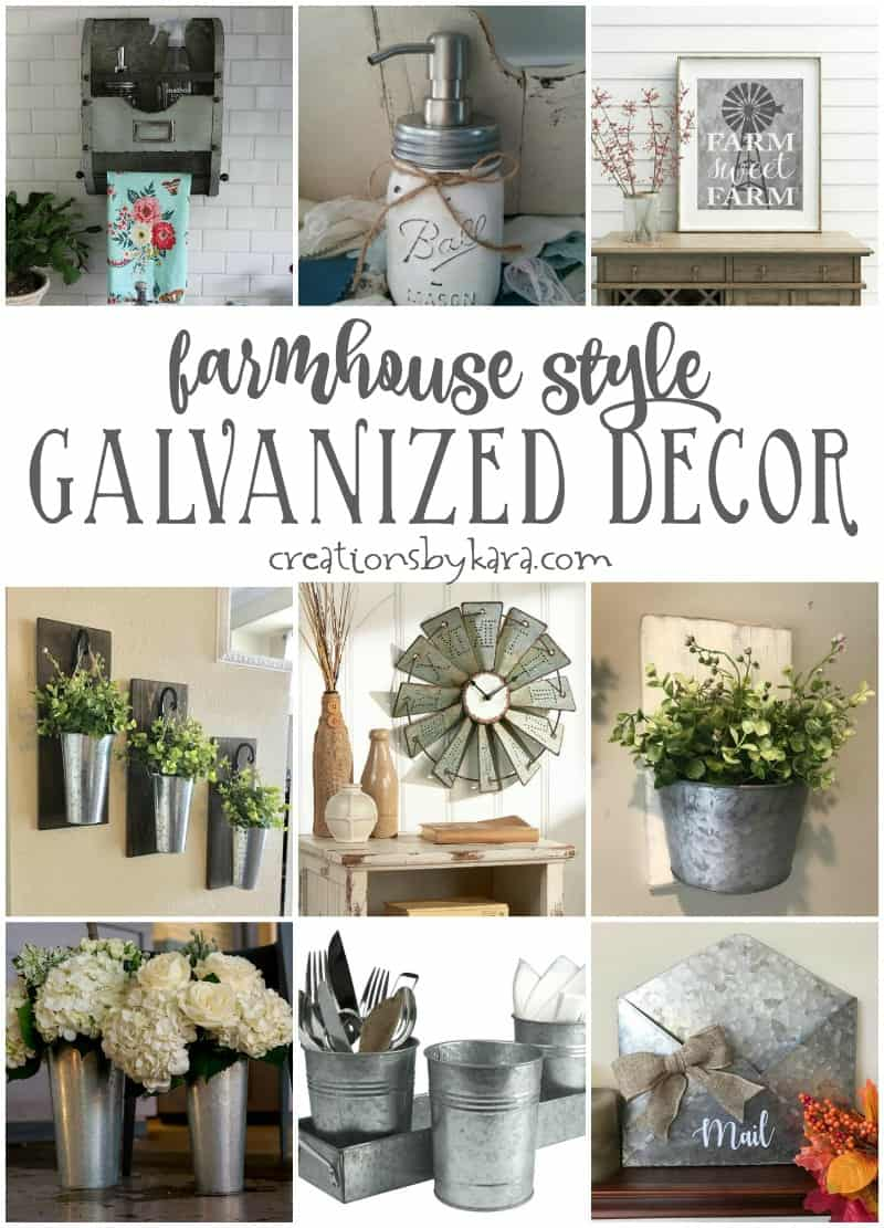 Farmhouse Style Galvanized Decor Creations By Kara