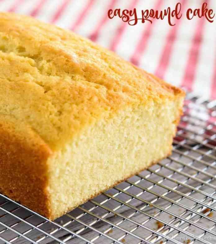 Easy Pound Cake Recipe Creations By Kara
