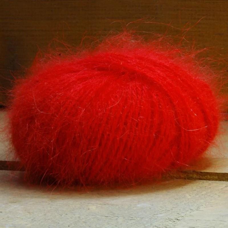 Pelote angora 100 % Rouge