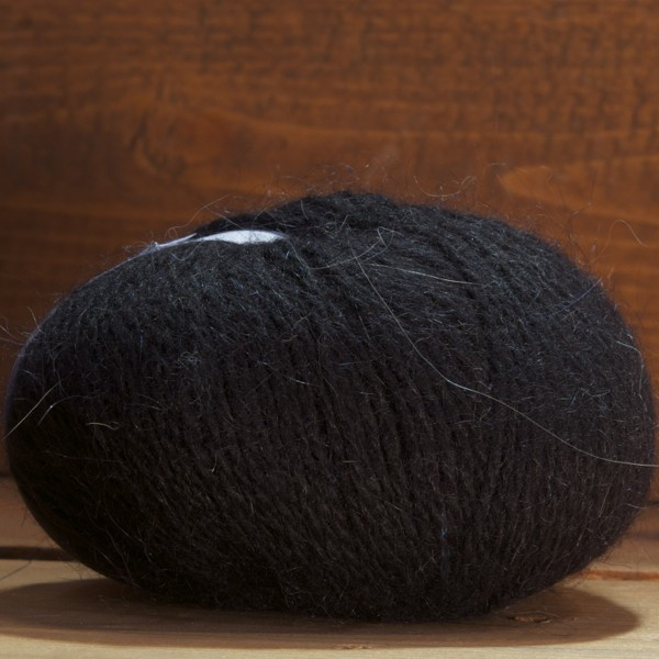 Pelote angora «Douceur» Noir