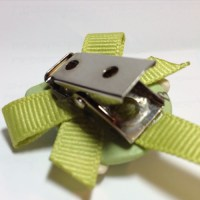 *OWL* pacifier holder, lime green ribbon [ASHIBOU] - $14 ...