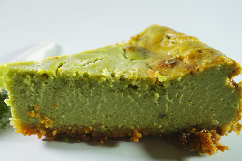 Matcha Cheesecake with Whole-Grain Cookie Crumb Pie Crust