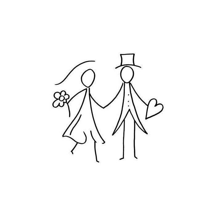 Brautpaar aus Wscheklammern bastelnideen brautpaar
