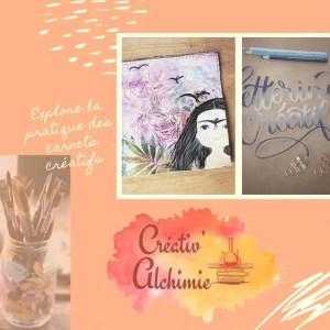 pack d'ateliers créatif en ligne pour explorer la paratique de l'art journal