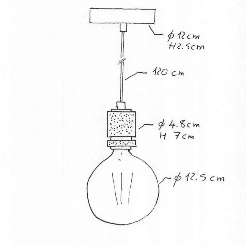 Industrial chandelier with milled lamp holder