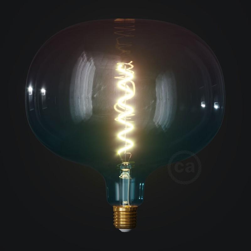 Druppel vorm draadframe lampenkap van gepolijst wit metaal
