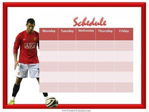 printable weekly calendar free