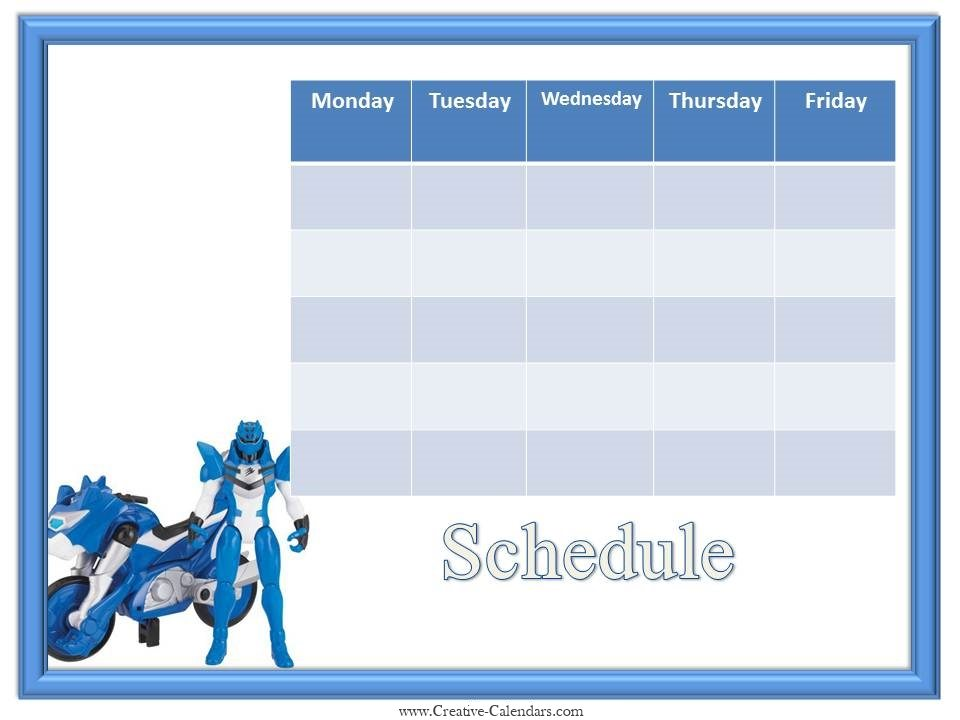 calender template free
