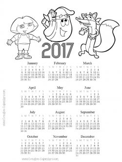 Free Printable Coloring Calendars