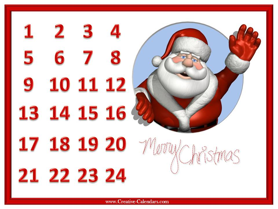 Days Until Christmas Printable.Countdown Calendar Days Until Printable Chinese Calendar 2016