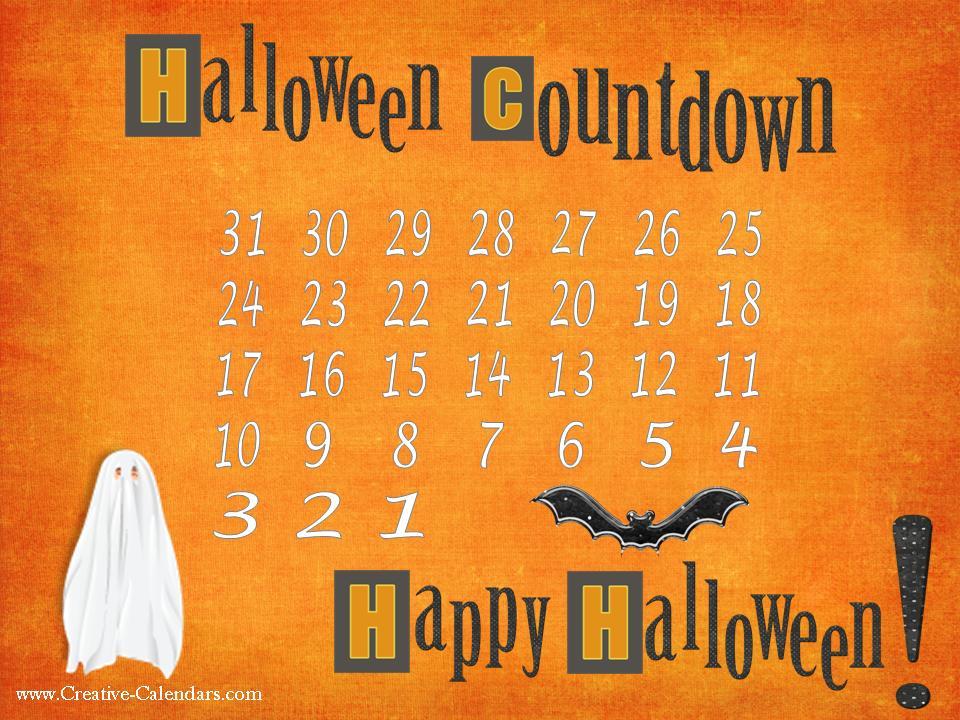 halloween calendar templates