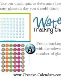 Water charts to track how much you drink also tracking rh creative calendars