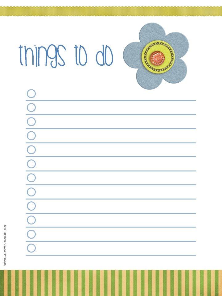 List Do Birthday Printable
