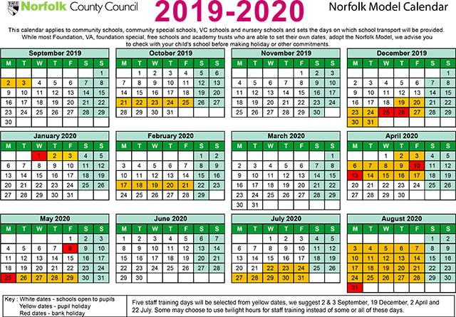 Term Dates 2019-20