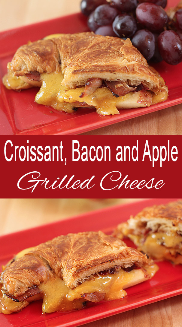 Apple and Bacon Grilled Cheese on a Croissant