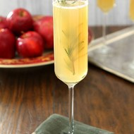 Apple Cider Bellini with Rosemary