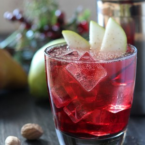 Jubilee Cocktail with Vodka, Red Wine and Spiced Pear Liqueur