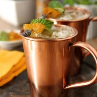 Brown Sugar and Roasted Pineapple Moscow Mule