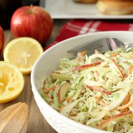 Apple and Poppy Seed Coleslaw with Honey Mustard Dressing