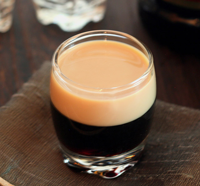 A Baby Guinness from @CreativCulinary
