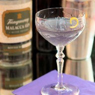The Blue Moon Cocktail with Gin and Creme de Violette