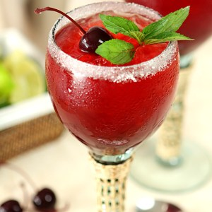 Cherry Mint Margaritas