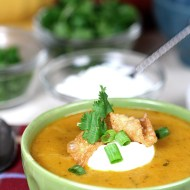 Hatch Green Chile and Cheese Soup