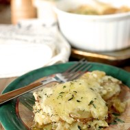 Garlic Jack Scalloped Potatoes with Thyme