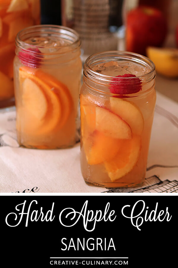 White Wine Sangrias are fruity and lighter than their red counterparts but can still pack a potent punch. Try this Hard Apple Cider Sangria for your next event or football viewing party.
