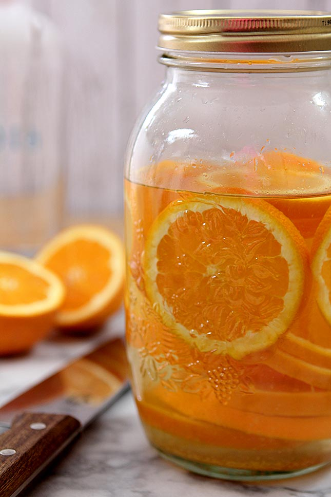 Orange Infused Vodka from Creative-Culinary.com