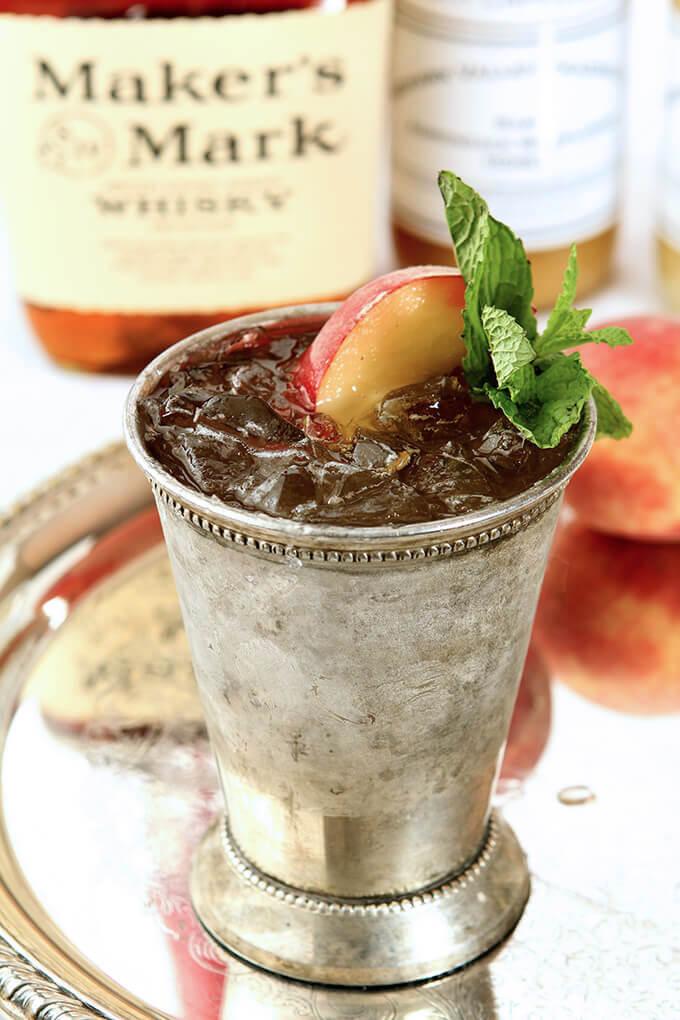 Honey Peach Mint Julep in a Cup