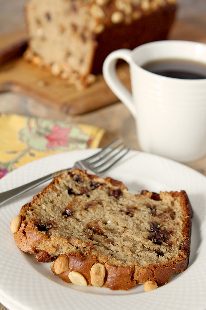Peanut Butter & Banana Bread with Milk Chocolate Chips