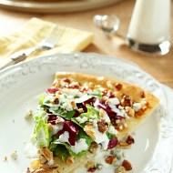 Pear, Gorgonzola and Hazelnut Pizza with Mixed Greens